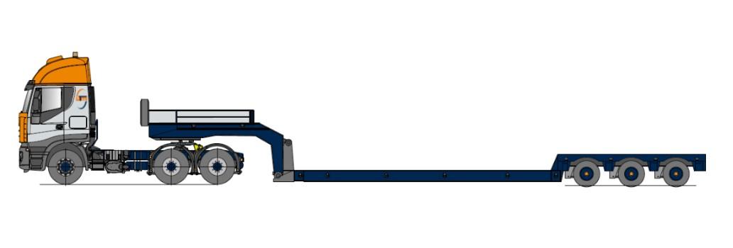 Naczepy niskopodwoziowe - Tiefbett, teleskopowy